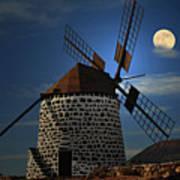 Windmill Against Sky Art Print by Ernie Watchorn