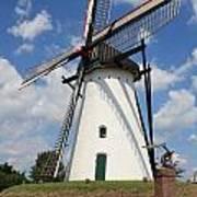 Windmill And Blue Sky Art Print