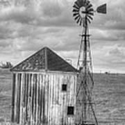 Windmill And Shack Art Print