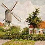 Windmill At Knokke Art Print