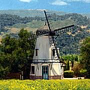 Windmill At Mission Meadows Solvang Art Print