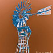 Windmill Blue Art Print