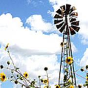 Windmill Dabble 2a Art Print