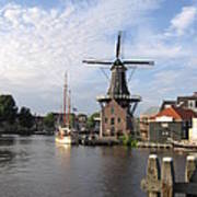 Windmill In The Nederlands Art Print