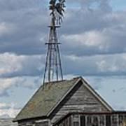 Windmill In The Storm Art Print