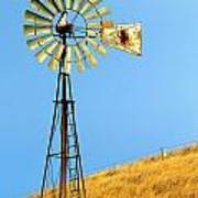 Windmill On Golden Hill Art Print