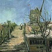 Windmill On Montmartre Art Print