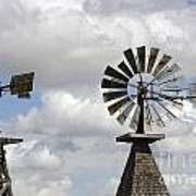 Windmills 5 Art Print