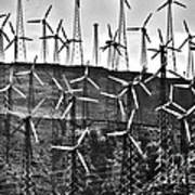 Windmills By Tehachapi  Art Print by Susanne Van Hulst