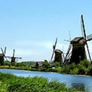 Windmills Art Print