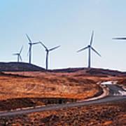 Windmills Near El Chorro Art Print