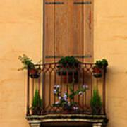 Window And Balcony In Vicenza Art Print