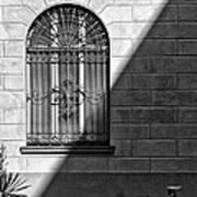 Window And Shadow On A Wall With Bike Art Print