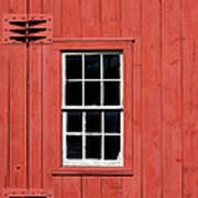 Window In Red Wall Art Print