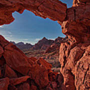 Window On The Valley Of Fire Art Print