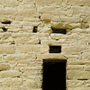 Window Opening In Old Brick Adobe Wall Art Print by Ned Frisk