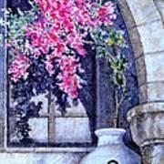 Window Shadow In Athens Greece Art Print