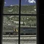 Window To The Rail Yard Art Print