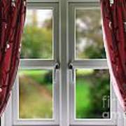 Window With Curtains Art Print