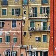 Windows Of Camogli Art Print