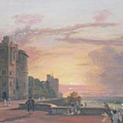 Windsor Castle North Terrace Looking West At Sunse Art Print