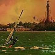 Windsurfer In Paradise Art Print