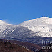 Windy Day At Mt Washington Art Print