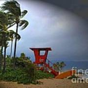 Windy Day In Haleiwa Art Print