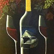 Wine And A Little More Art Print