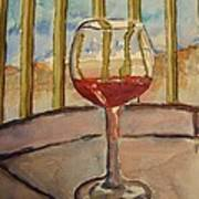 Wine By The Water Art Print