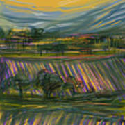 Wine Country Print by Russell Pierce