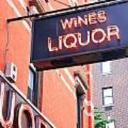 Wines And Spirits Sign Art Print
