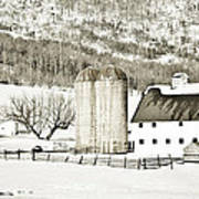 Winter Barn 3 Art Print
