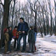 Winter Explorers Art Print