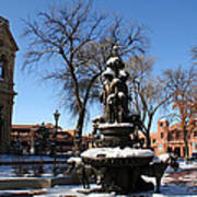 Winter In Cathedral Park Santa Fe Art Print