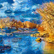Winter In Salida -- Renoir Art Print