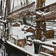 Winter On Deck Art Print