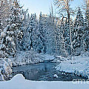 Winter On The Truckee River Art Print