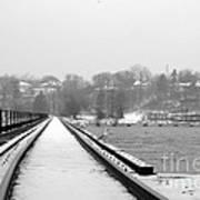 Winter Rails Art Print