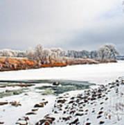 Winter Red River 2012 Art Print by Steve Augustin