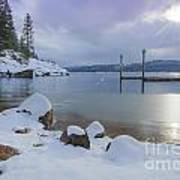 Winter Shore Art Print by Idaho Scenic Images Linda Lantzy