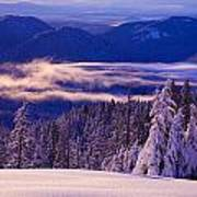 Winter Snow, Cascade Range, Oregon, Usa Art Print