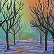 Winter Solitude 11 Art Print