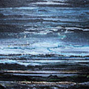 Winter Storms And Moonlight No1 Art Print by Mike   Bell