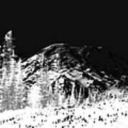 Winter Sunrise On Mount Rainier Art Print