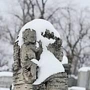 Winter Tombstone Art Print