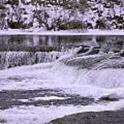 Winter Waterfalls Art Print