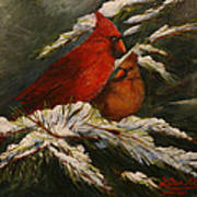 Winters Cardinals Rule Art Print