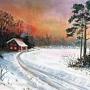 Winters Glow Art Print