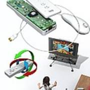 Wireless Home Video Game System Art Print by Jose Antonio PeÑas